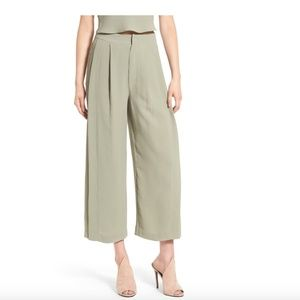 Kendall & Kylie Pants - Kendall + Kylie high waist wide leg crop pants